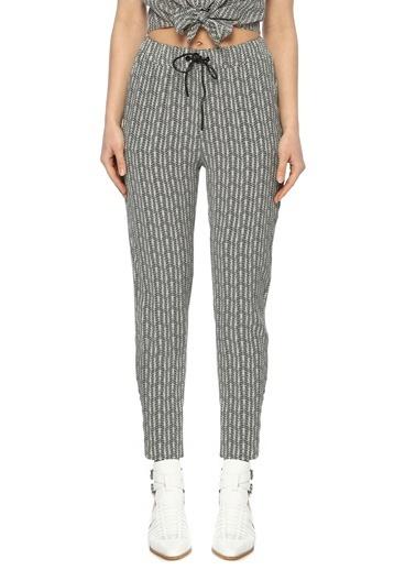 NetWork Kadın 1073235 Basic Fit Desenli Dar Paça Pantolon Haki